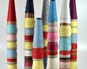 Totem Group, Spooled Thread Installation, Repurposed, Original Art