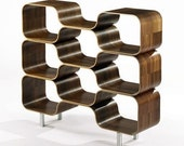 HIVE Modular Shelving Unit by Chris Ferebee, Limited Edition, Molded Plywood, Modernist Bookshelf