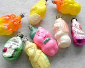 Fun Animal Christmas Ornaments made in Russia, Colorful & Kooky Animals, Painted Glass, Holidays