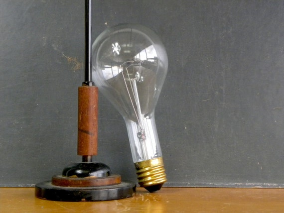 Giant Industrial Lightbulb, Incandescent, GE 300W, Cool Display Piece