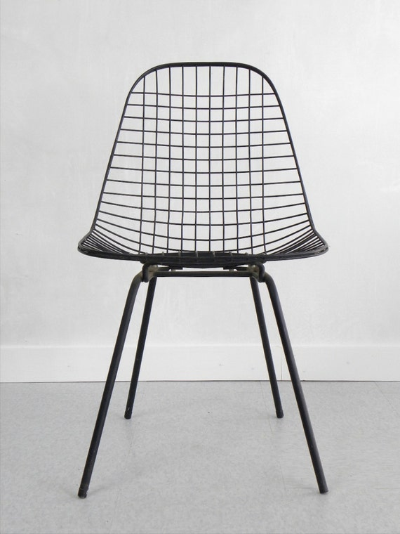 RESERVED 1950 39 S Eames DKX Wire Side Chair Herman