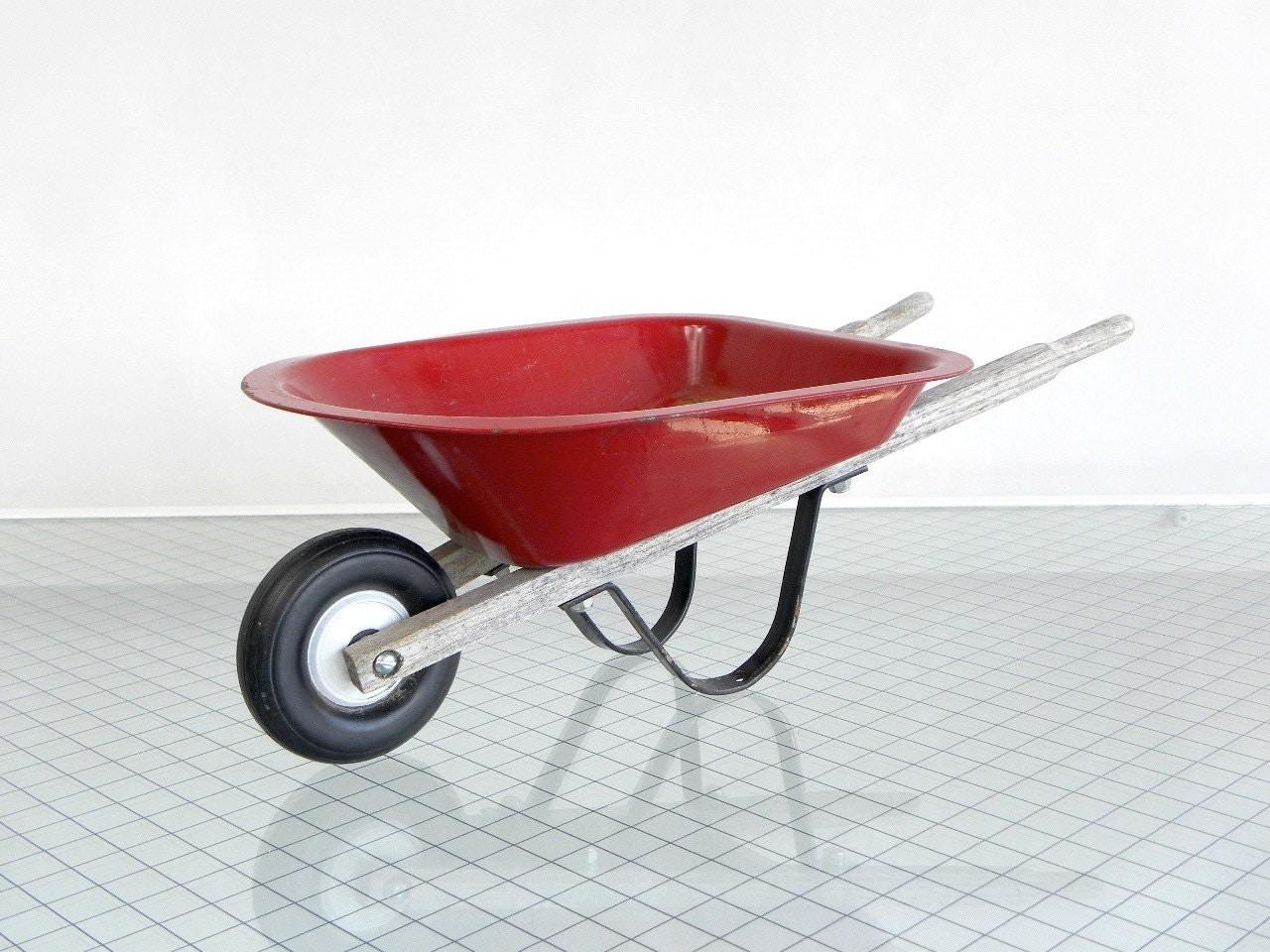 Miniature Metal Wheelbarrow