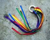 Rainbow Dancing Ribbon Ring Natural Toy