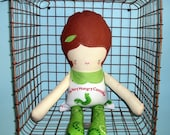 Very Hungry Caterpillar themed 18 inch Doll READY TO SHIP