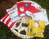 Set of 6 Dr Seuss themed Bean Bags