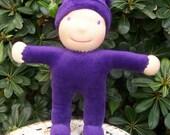 SALE: adorable purple velour snuggle waldorf doll