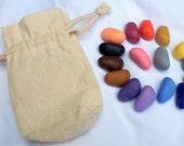 Set of 16 All natural soy crayons Waldorf Montessori