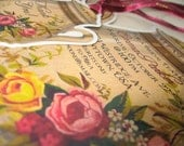 Bridal Tea Party Bridal Shower Invitation. Floral Vintage Invitation. Set of 24 with matching envelopes.