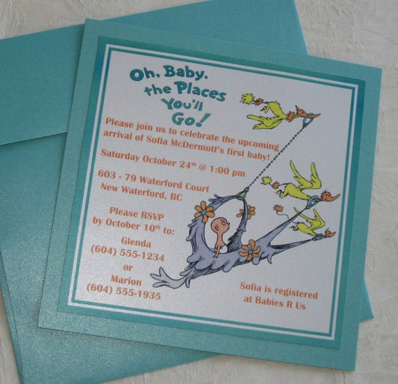 dr seuss oh baby shower invitations private listing for annavonarx