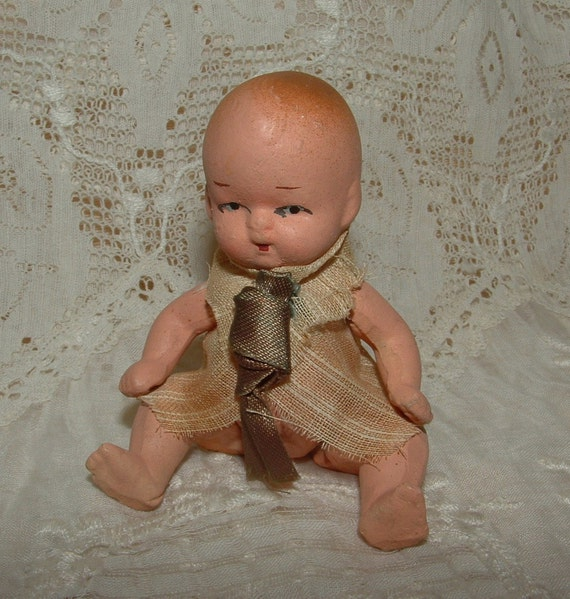 """3"""" Occupied Japan Jointed Bisque Baby Doll"""