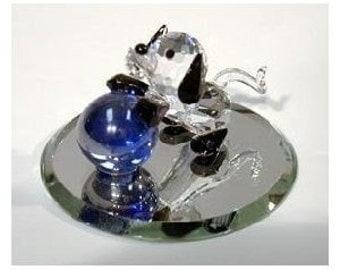 Crystal Puppy made with Swarovski crystal