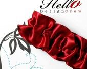 Bridal Garter Crimson Red Garter SINGLE - SM/MED