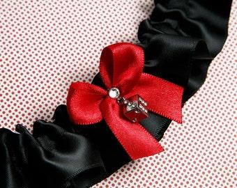 Wedding Garter, Boudoir Garter, Bridal Garter, Prom Garter - Vegas Dice Garter SINGLE
