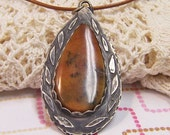 Reserved for Sylvia- Necklace-Dendritic Agate and Sterling Silver