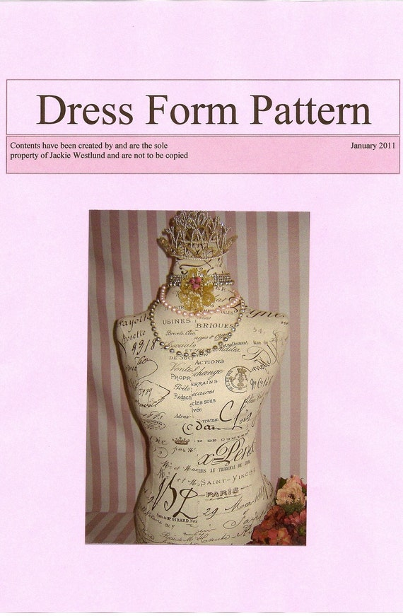 French Dress Form / Mannequin Pattern