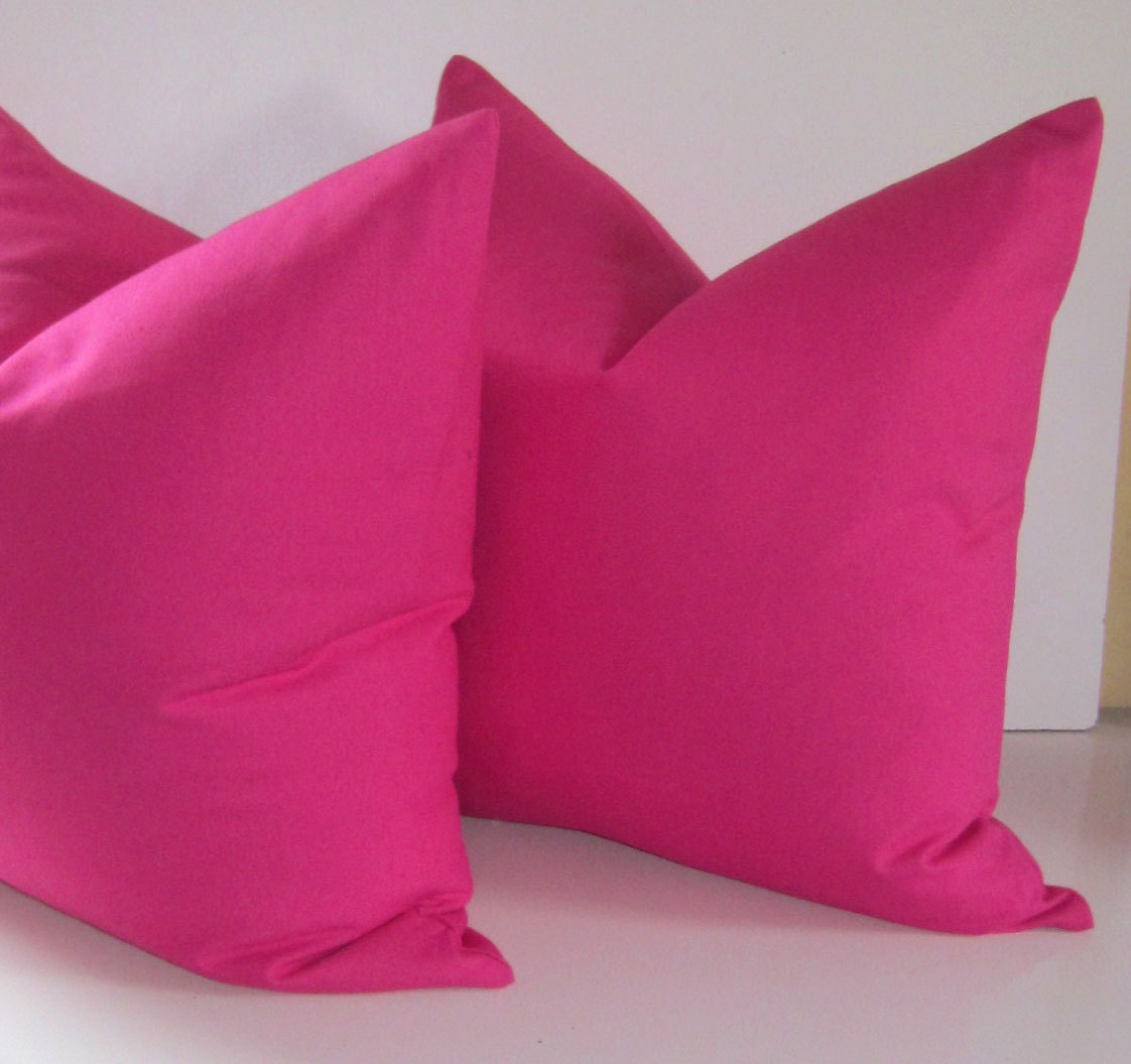 Decorative Pillow Pink : Set of two Pink Pillows 20 inch Decorative Pillows