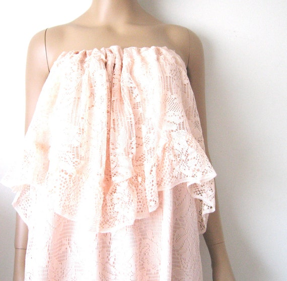 Lace Maxi Strapless Dress One of a Kind