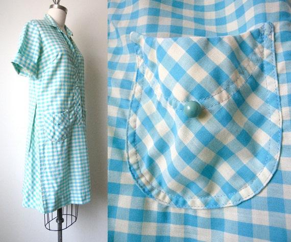 Vintage Cotton Shirt Dress - Size: M