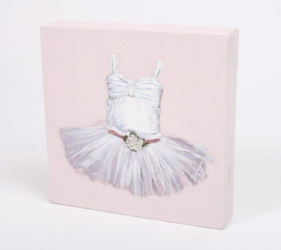 "Children's Nursery Wall Art - Stretched Canvas Print - ""Ballerina Tutu"""