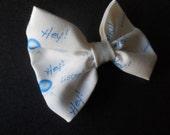 HEY Listen Look its a Navi hair bow Zelda inspired Bow Tie