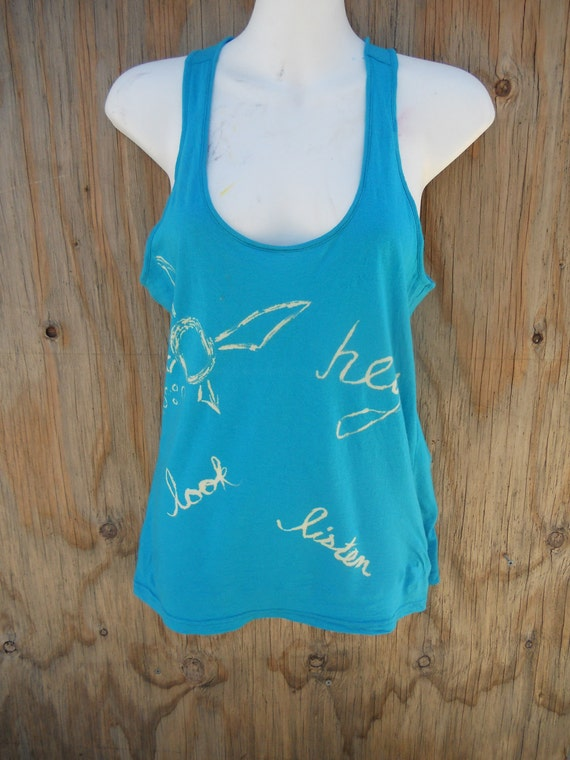 Navi the annoying Fairy turquoise tank top