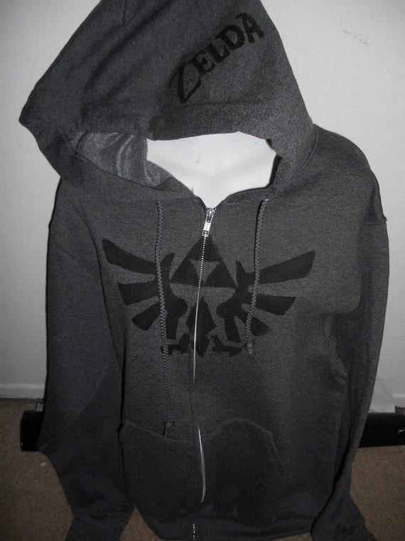 PREVIEW dark gray Legend of ZELDA zip up adult hoodie