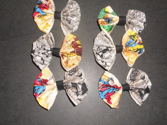 Marvel Super Hero hair bows or Bow Tie PICK YOUR FAVORITE