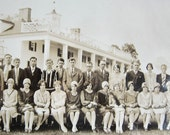 1920s Vintage Class Photo at Mount Vernon - Berlin High School Class of 1929 - Black and White Photograph - Flapper Fashions