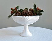 Small Milk Glass Compote or Footed Bowl by Indiana Glass Co