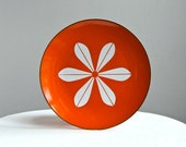 Cathrineholm Enamelware Plate - Lotus in Orange and White