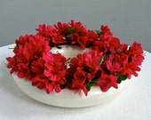 Red Wing Pottery Wedding Ring Centerpiece Vase - Pansy Ring
