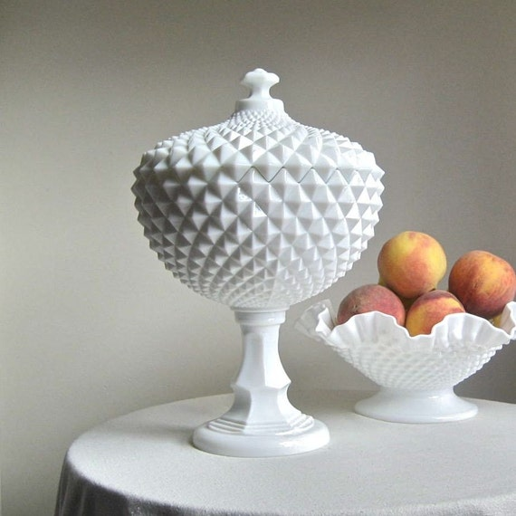Large Westmoreland Milk Glass Compote