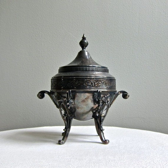 Silver Plate Covered Butter Dish, circa 1880