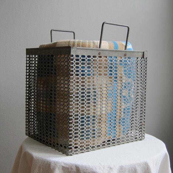 Industrial Metal Handled Basket - Storage Container