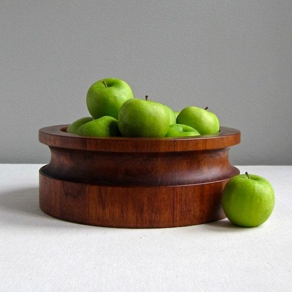 Dansk Teak Bowl by Jens Quistgaard IHQ Danish Modern Wood Bowl