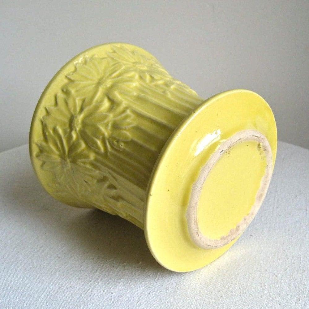 Vintage McCoy Pottery Flower Pot Yellow Daisies