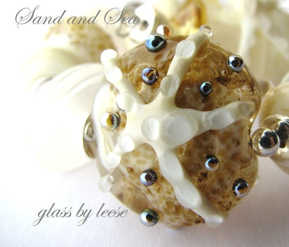 Sand and Sea  Lampwork Glass By Leese