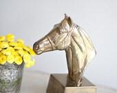 brass horse statue