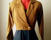 Vintage Cropped Military Jacket - Size Small