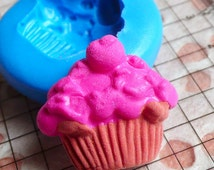 Cupcake Mold 23mm Flexible Silicone Mold Kawaii Miniature Sweets Deco Kitsch Jewelry Charms Cabochon Scrapbooking Mold Fimo Resin Mold MD318
