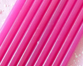 Dark Strawberry Deco Sauce / Dark Pink Translucent Glue Sticks (10 pcs) Miniature Sweets Ice Cream Cupcake Whipped Cream Decoden DS105