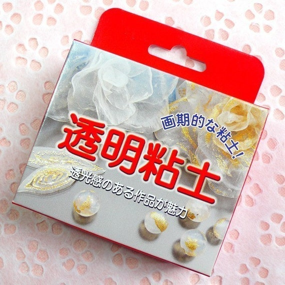HIGH QUALITY Transparent Clay from Japan (50g and 2.5g Hardening Agent) - Flower / Beads / Miniature Food / Sweets / Jelly / Slurpy Drink