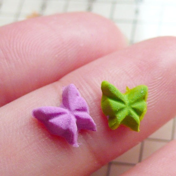 Tiny Butterfly Mold 7mm Flexible Silicone Mold Jewelry Earrings Mold Gumpaste Fondant Fimo Polymer Clay Mini Cupcake Topper Cabochon MD405