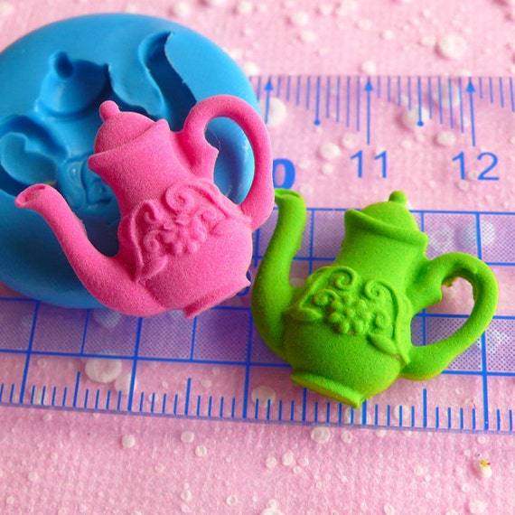 Teapot Mold Flexible Silicone Mold 22mm Dollhouse Miniature Kawaii Deco Polymer Clay Scrapbooking Mold Gumpaste Fondant Resin Mold MD553