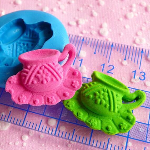 Tea Cup Mold Flexible Silicone Mold 22mm Dollhouse Miniature Kawaii Deco Fimo Polymer Clay Mold Scrapbooking Mold Gumpaste Wax Resin MD554