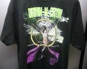 vtg. drivin-n-cryin fly me courageous 1990 world tour shirt  size xl