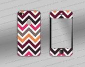 Iphone 4 cover - Chevron colour pattern