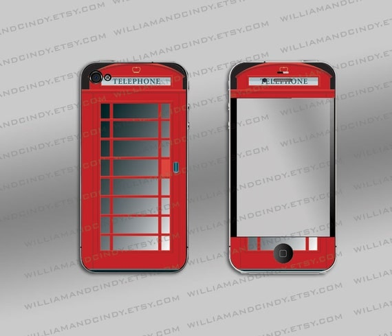British Booth - Iphone 4 cover