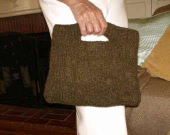 Brown Felted Hope Bag