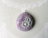 Purple Bloom - Large pendant
